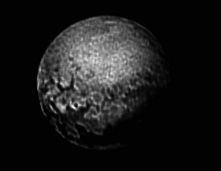 Over Processed Pluto Image
